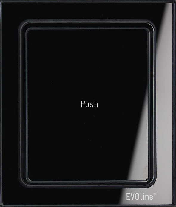 EVOline Port Push Black Glass top - EVOlinestore 700