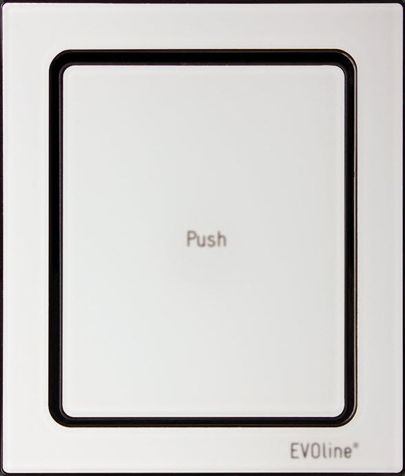 EVOline Port Push White Glass top - EVOlinestore 700