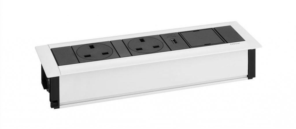 EVOline FrameDock White - UK power, USB, free space - EVOlineStore - Bespoke Products