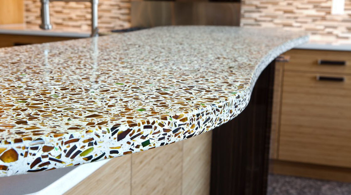 EVOline with recycled glass countertops - EVOlineStore
