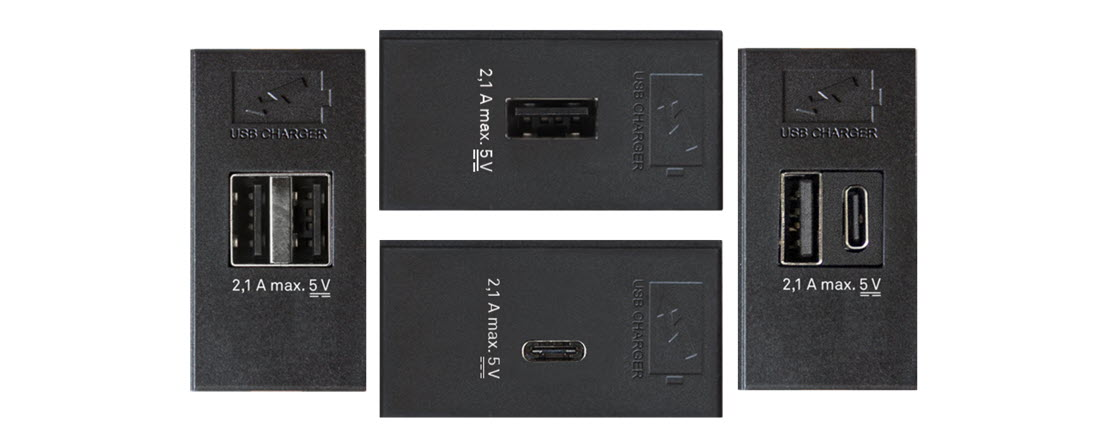 EVOline 4 different USB chargers - EVOlineStore