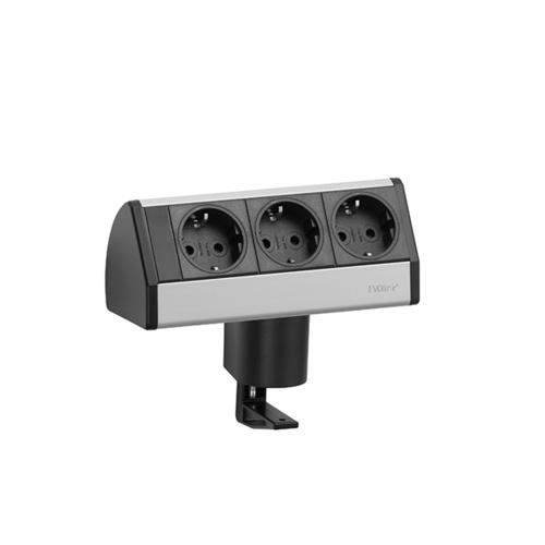 EVOline Dock SMALL / 3x power / no clamp / Silver-0
