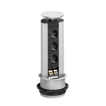 EVOline Port DATA / Silver / 3x pop up socket / 2x RJ45-0