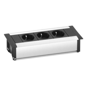 EVOline FrameDock SMALL /silver anodised / 3x power socket-0