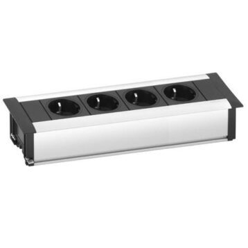 EVOline FrameDock MEDIUM / silver anodised / 4x power socket-0