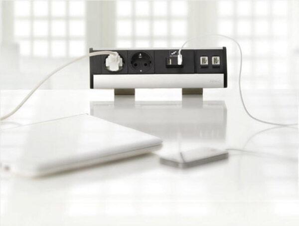 EVOline Dock SMALL / 3x power / no clamp / Black-2033