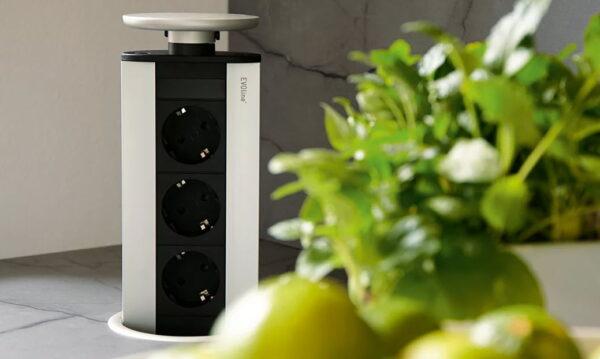 EVOline Port - popup tower - VDE 3 sockets - EVOlineStore
