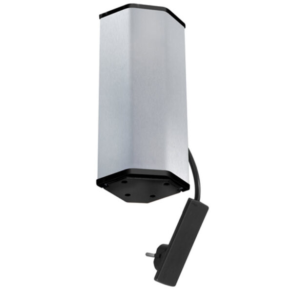 EVOline V-Port Charger / Black / Stainless steel / 2x socket / 1x USB-2284