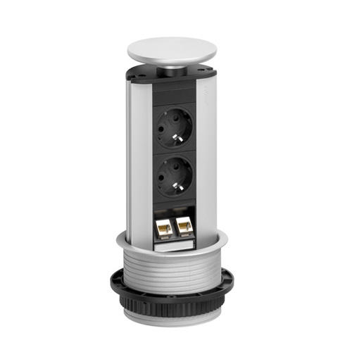 EVOline Port Data Silver 2x socket 2x RJ45 - EVOlineStore