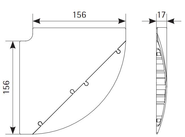 EVOline Bridge kabelgoot / vloergoot / kabelbrug hoek module 90 graden-1643