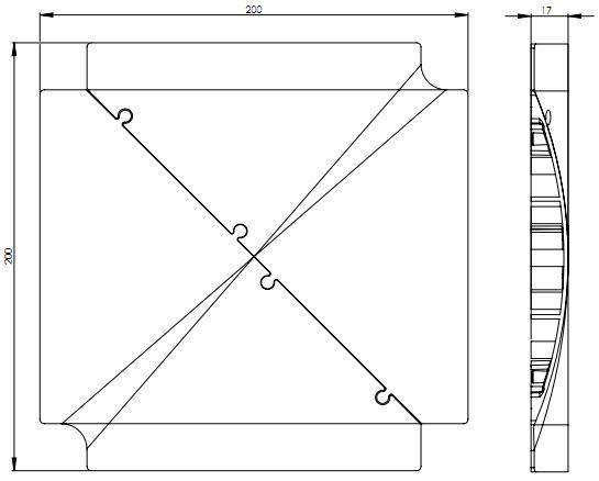 EVOline Bridge kabelgoot / vloergoot / kabelbrug kruis module-1632
