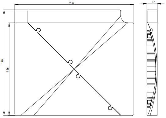 EVOline Bridge kabelgoot / vloergoot / kabelbrug T-stuk module-1634