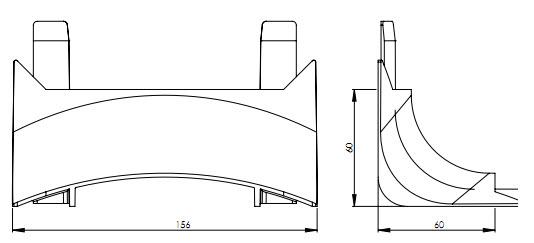 EVOline Bridge kabelgoot / vloergoot / kabelbrug verticale module-1627