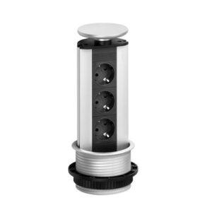 EVOline Port / Stainless steel / blue nightlight LED / 3x popup socket-0