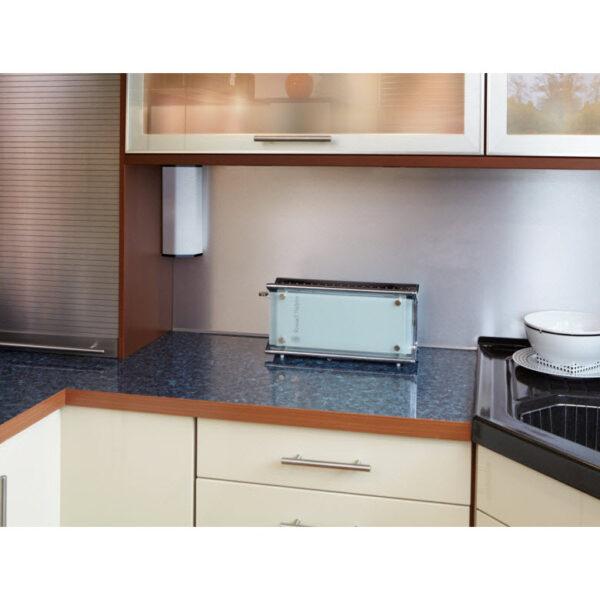 EVOline V-Port, Black aluminum / Stainless steel / 2x socket SoftTouch-2482