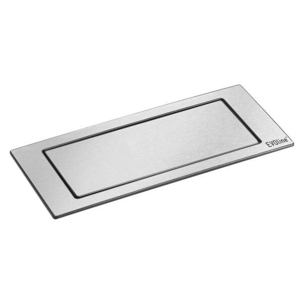 EVOline Backflip stainless steel / 2x power socket / 1x USB Charger-0