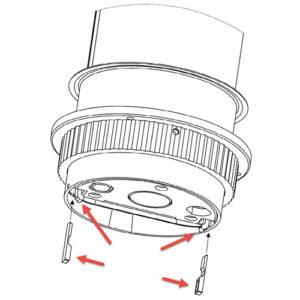 EVOline Port replacement 2x lock nut + 2x slip reduction wedge -0