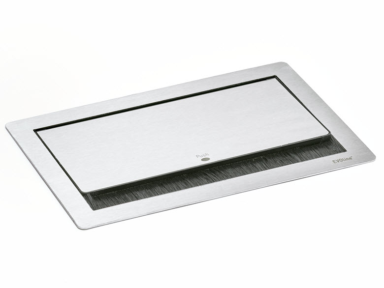 EVOline Fliptop Push Data M / Netbox 3x power socket / 2x RJ45-2803