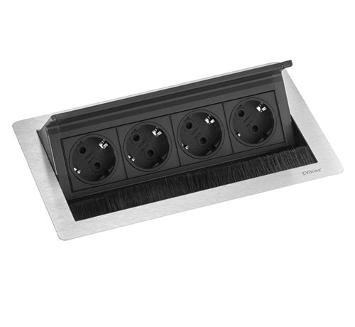 EVOline Fliptop Push M / Netbox 4x power socket -0