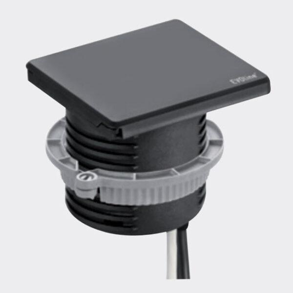 EVOline Square80 / 1x Qi / 1x power / 1x USB charger / 1x RJ45 / Black-2824
