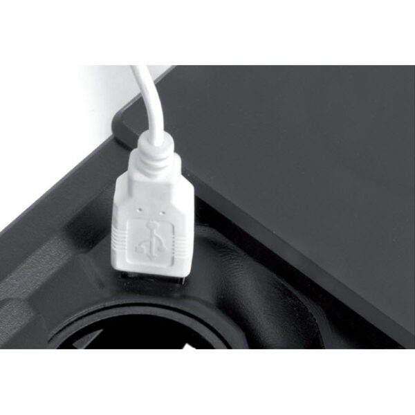 EVOline Square80 / 1x Qi / 1x power / 1x USB charger / 1x RJ45 / Black-2825