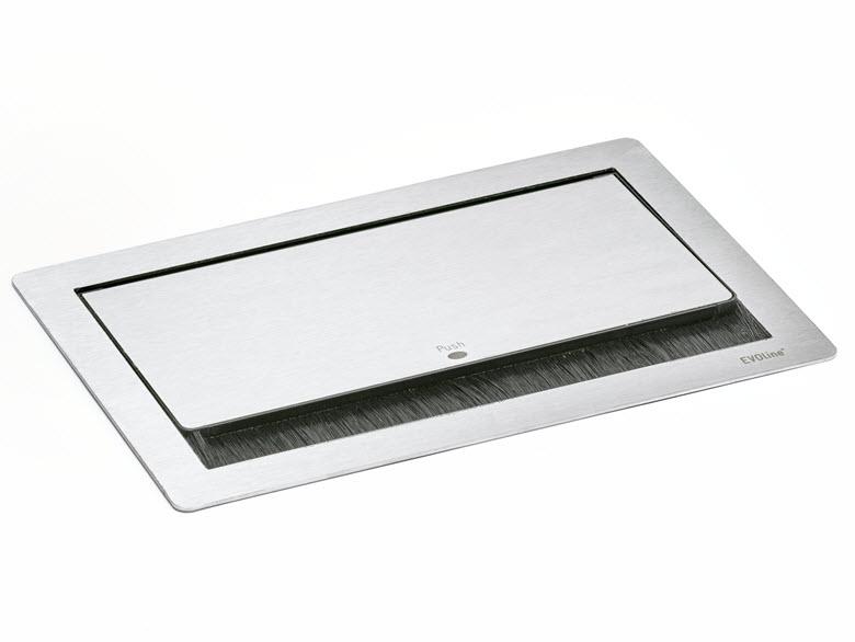 EVOline Fliptop Push Data S / Netbox 2x power socket / 2x RJ45-2878