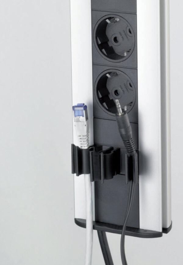 EVOline Port Cable Guide / Black / 1x pop up socket-3125