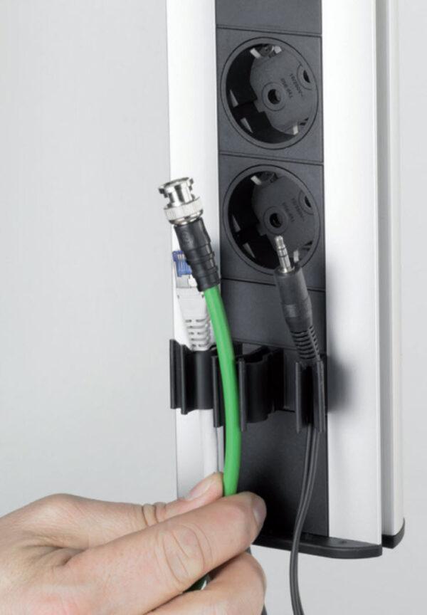 EVOline Port Cable Guide / Black / 1x pop up socket-3126