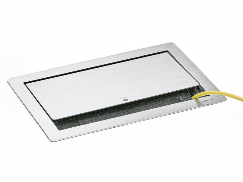 EVOline FlipTop Push M /Netbox /2x pwr /1x RJ45 /VGA /Audio /HDMI-3231