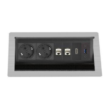 EVOline FlipTop Push M / Netbox / 2x pwr / 2x RJ45 / HDMI / USB 3.0-0