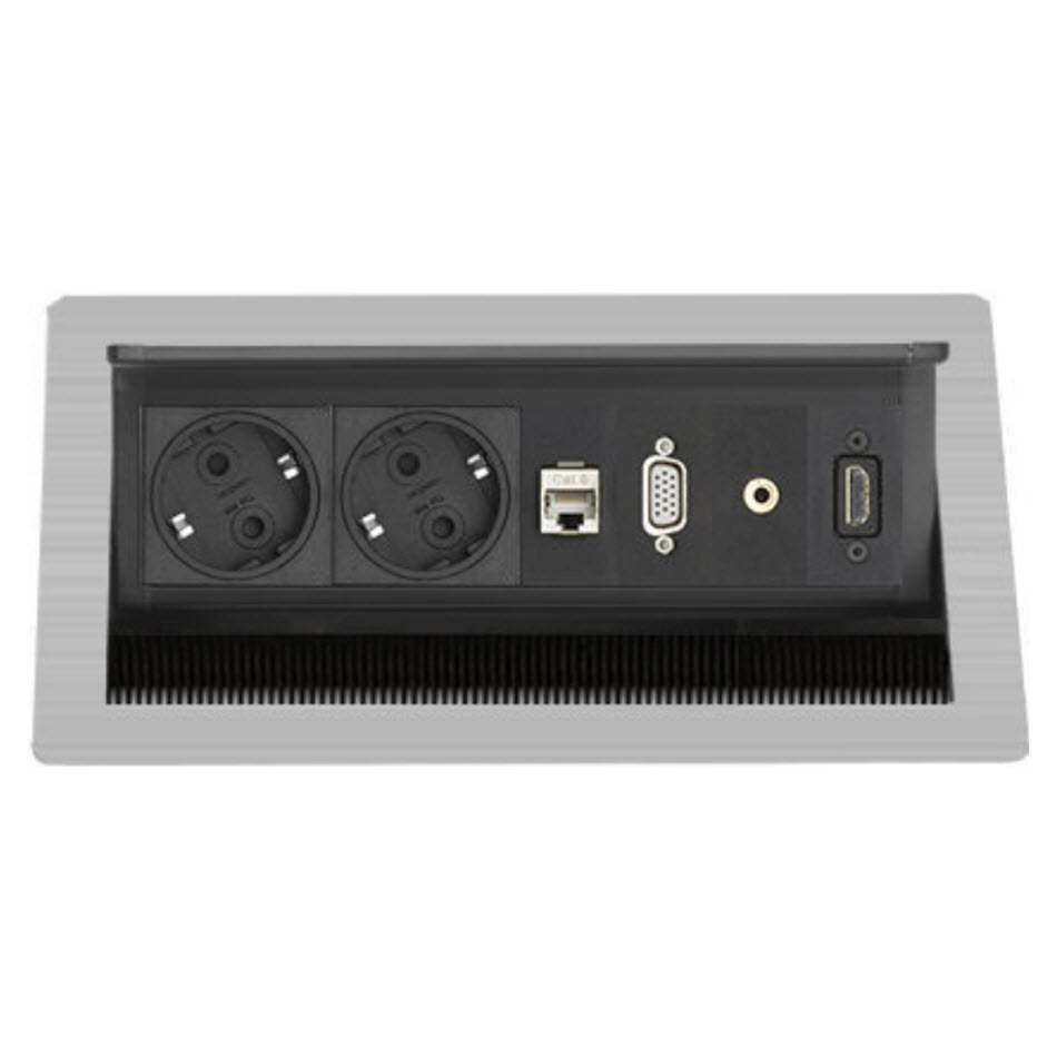 "Featured image for ""EVOline FlipTop Push M /Netbox /2x pwr /1x RJ45 /VGA /Audio /HDMI"""