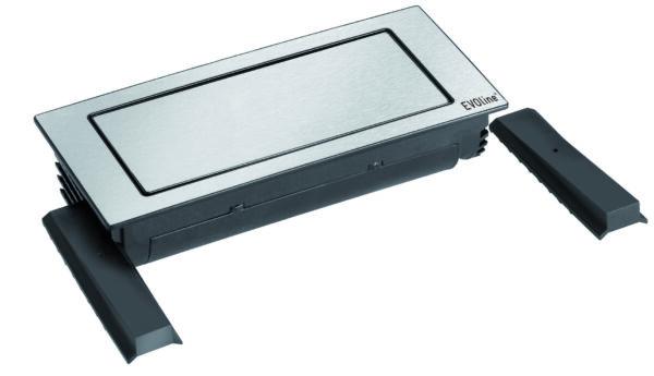 EVOline Backflip white glass top / 2x power socket / 1x USB Charger-3280