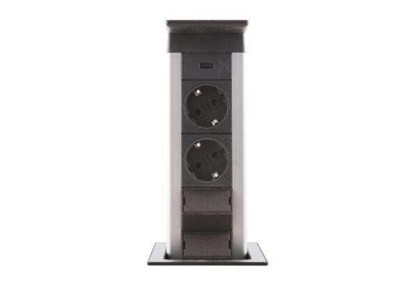 EVOline Port Push / 2x pop up socket-3305