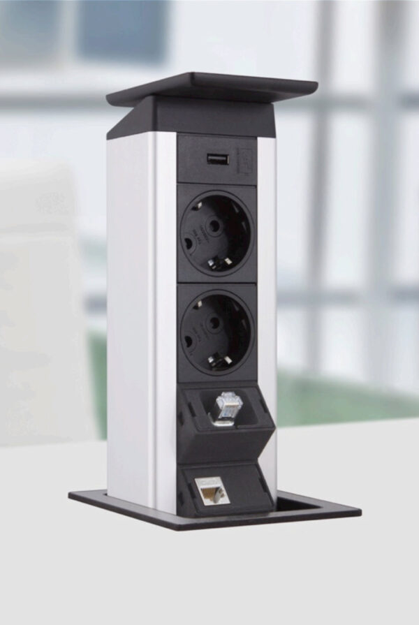 EVOline Port Push / 2x pop up socket-3303