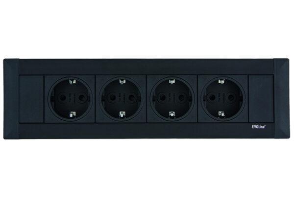 EVOline FrameDock SMALL / black anodised / 3x power socket-3330