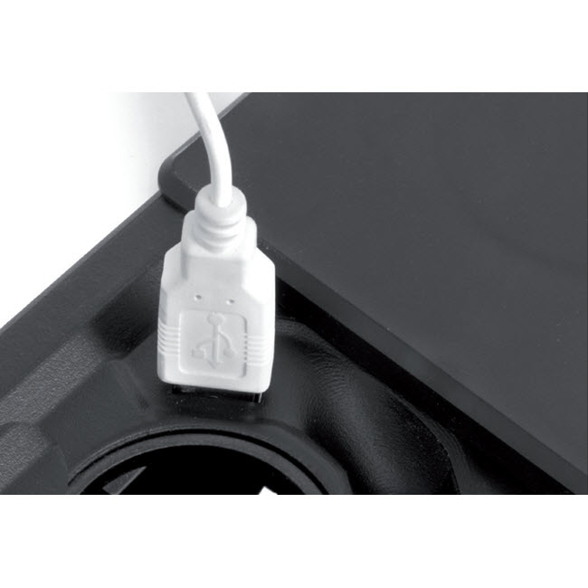 EVOline Square80/ 1x Qi/ 1x power/ 1x USB charger/ 1x RJ45 cable/ Black-3352