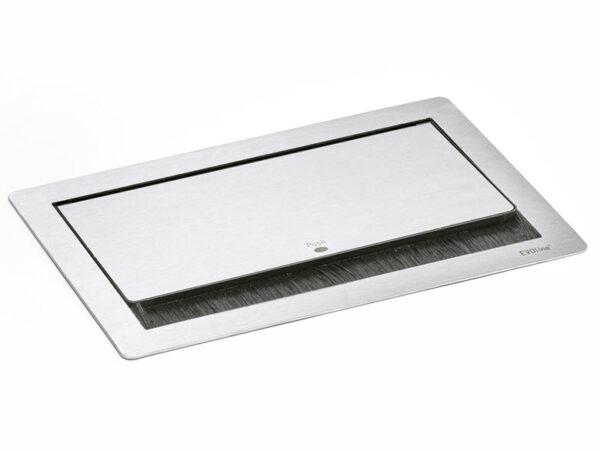 EVOline Fliptop Push S / Netbox 3x power socket / Black painted-3415