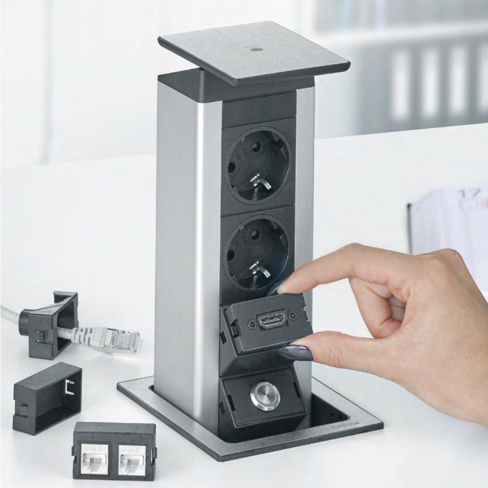 EVOline Port Push, the retractable rectangular solution