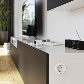 EVOline One - power socket cover ring white - EVOlineStore