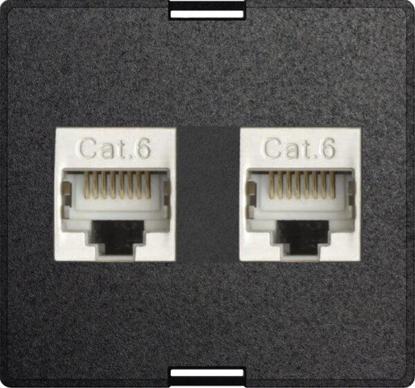 Exchangeable module 2x RJ45 modular CAT6 full