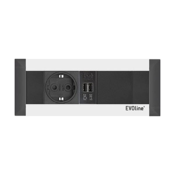 """Featured image for """"EVOline FrameDock 1-U-1 silver / Power / USB charger / Free Space"""""""