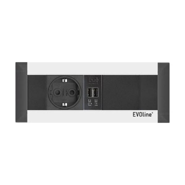 EVOline FrameDock - 1x VDE 1x USB 1x Free slot - EVOlineStore