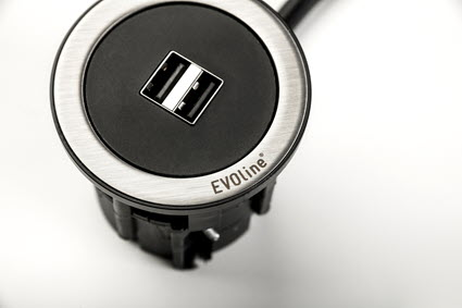 EVOline One - USB charger black - EVOlineStore