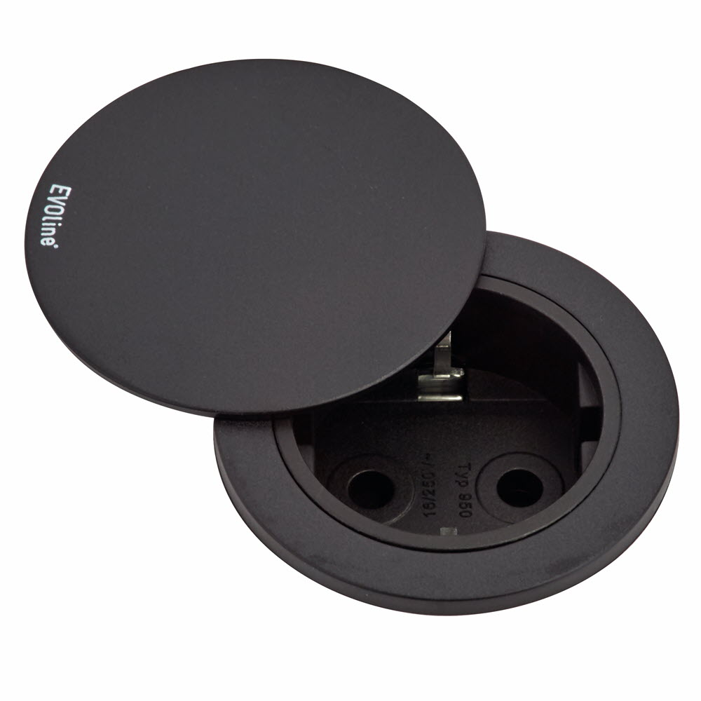EVOline One - VDE socket black + cover - EVOlineStore