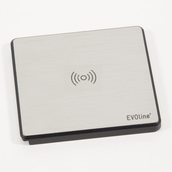 EVOline Square Stainless steel optics Qi-charger - EVOlineStore