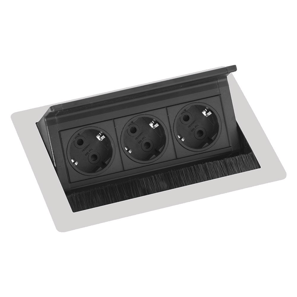"Featured image for ""EVOline Fliptop Push S / Netbox 3x power socket / Subtle Grey painted"""