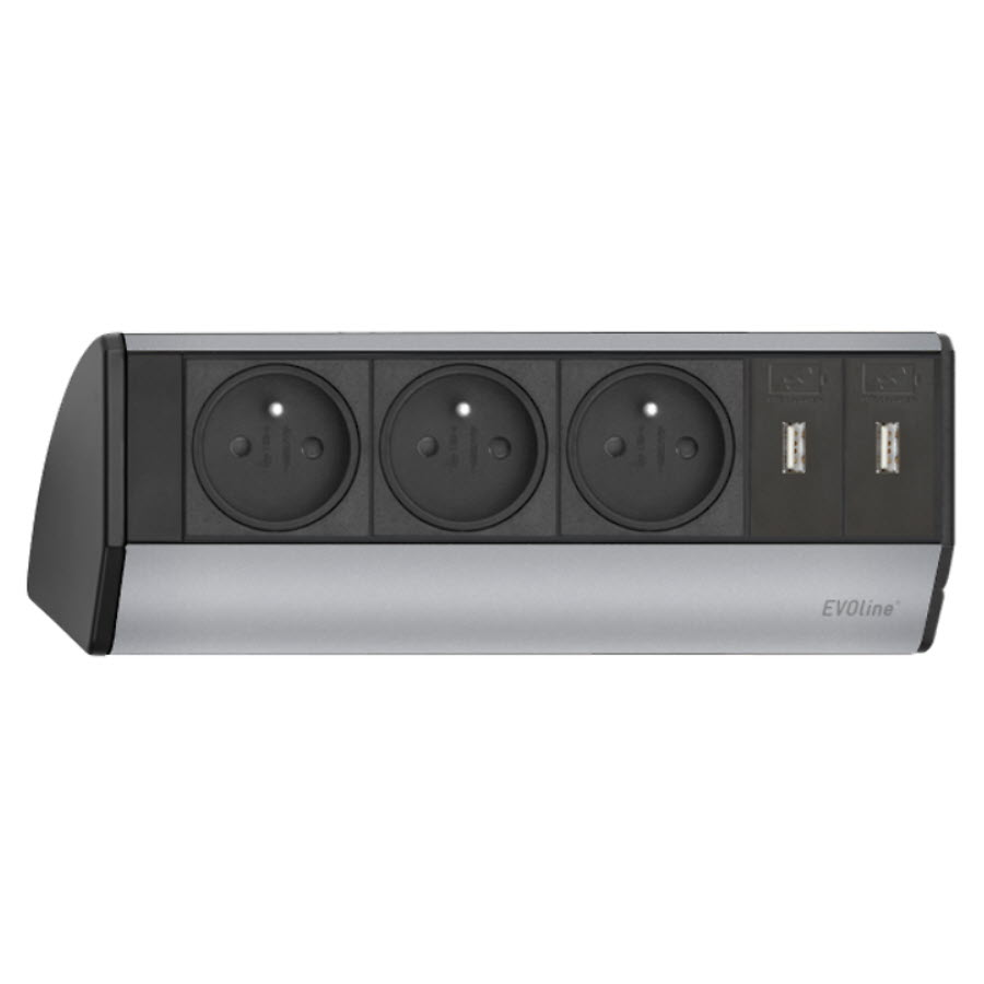 EVOline Dock BF 3x power 2x USB - EVOlineStore