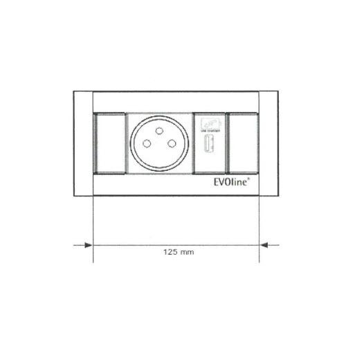 EVOline FrameDock - 1x BF 1x USB size - EVOlineStore