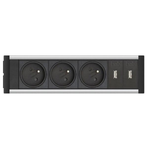 EVOline U-Dock (BF) 3x power 2x USB charger - EVOlineStore