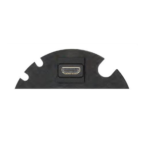 EVOline Circle80 - 3fold cable guide + HDMI - Black - EVOlineStore 500x500